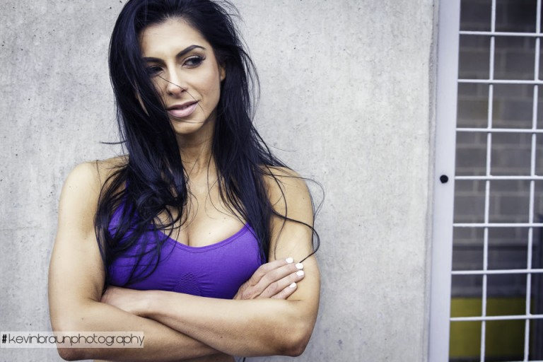 Katerina in Purple Sports Bra